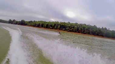 Knee Boarding at Waroona Dam